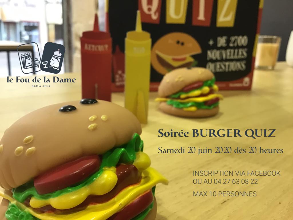 soirée burger quiz au fou de la dame à romans-sur-isère